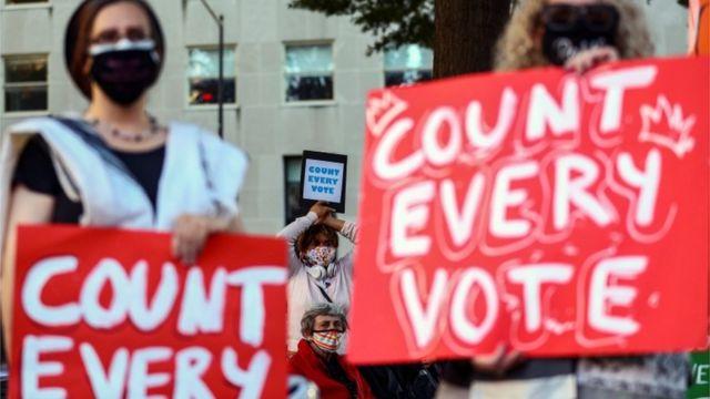 Акция избирателей за честный подсчет голосов