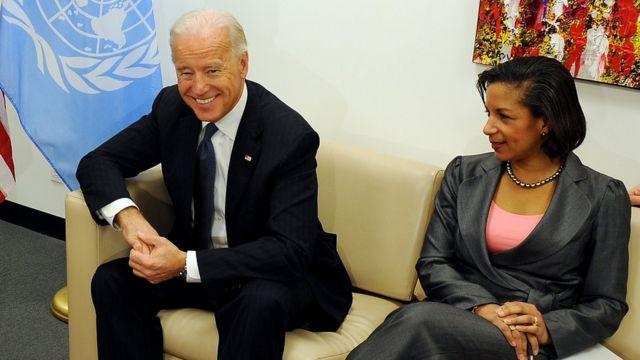 Джо Байден и Сюзан Райс в 2010 году