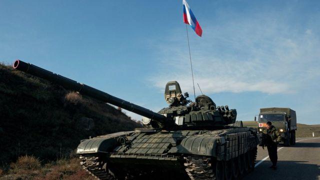 Российские миротворцы в Нагорном Карабахе 10 ноября 2020 года