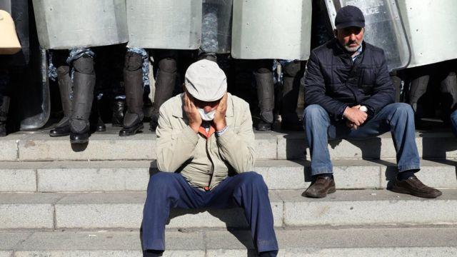 Протестующие в Еревание