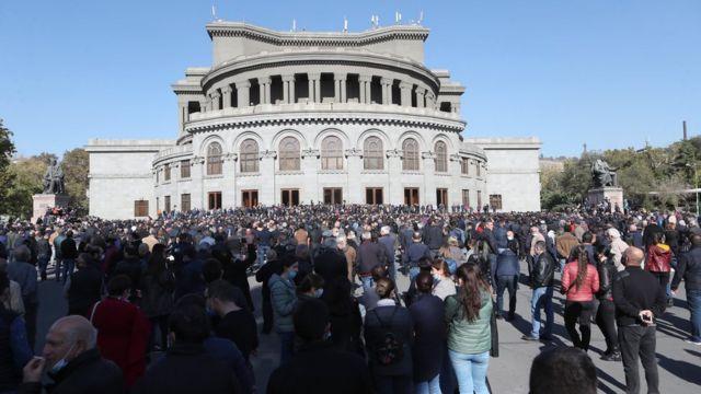 Митинг на площади Свободы в Ереване 11 ноября