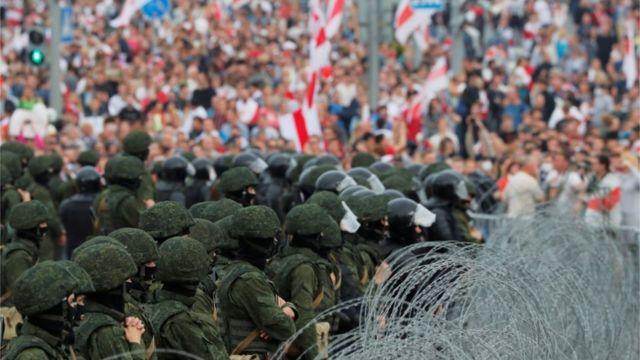 Минск протесты