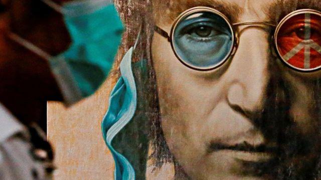 граффити Леннона в пандемию ковида в Джакарте