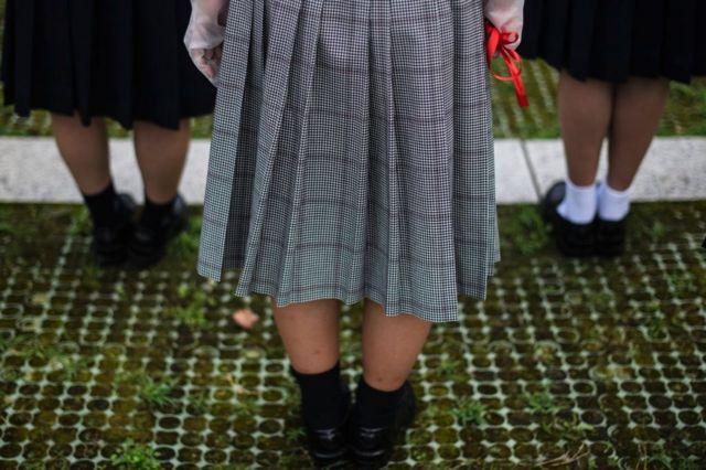 Ученицы старших классов в Японии