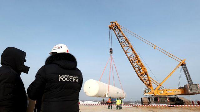 """Строительство пусковой позиции для ракет """"Ангара"""" на космодроме Восточный"""