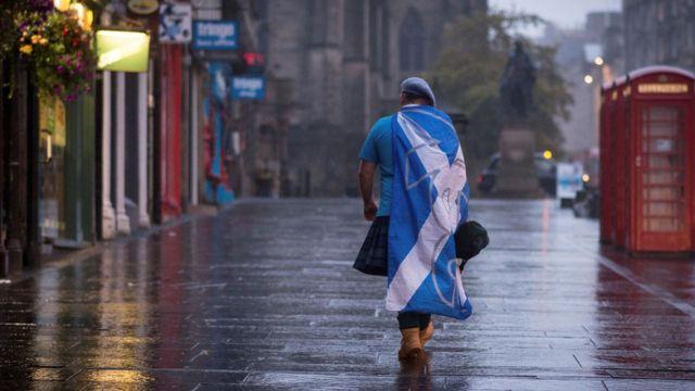 Сторонник независимости Шотландии после референдума-2014