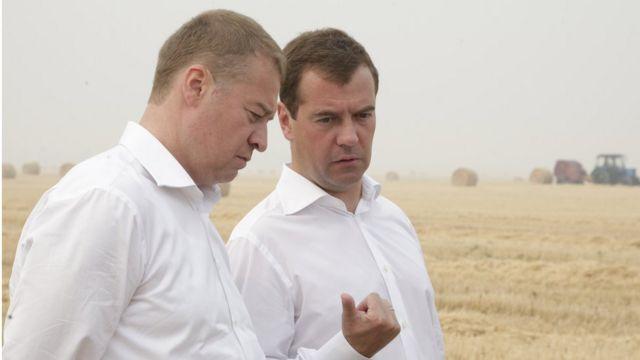 Леонид Маркелов и президент России Дмитрий Медведев. 2010 год