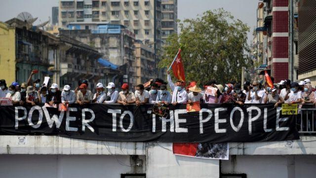 Протесты в Янгоне