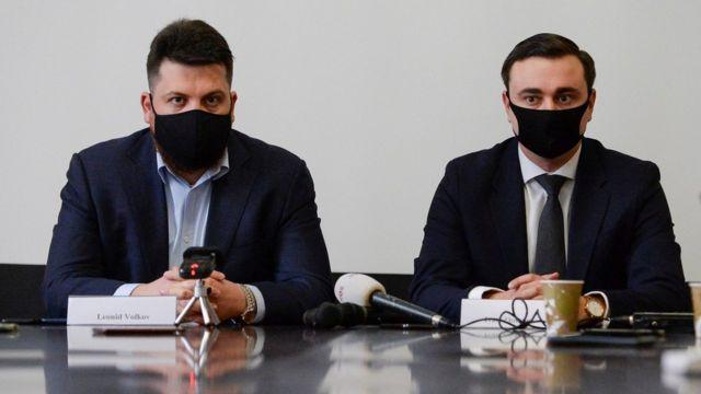 Пресс-конференция Волкова и Жданова в Брюсселе