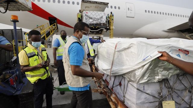 First consignment of Covax vaccines arrives in Ghana
