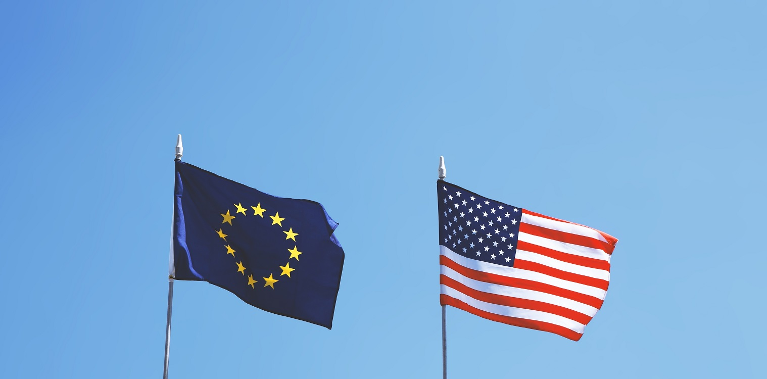 flags of europe and united states of america next 9WY37TZ #новости Грузия-ЕС, Грузия-США, Карл Харцель, кризис Мечты