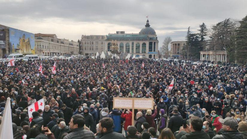kutaisi protest namakhvani #новости Грузия, Кутаиси, Минэкономики, Намахванская ГЭС, Натия Турнава, протест
