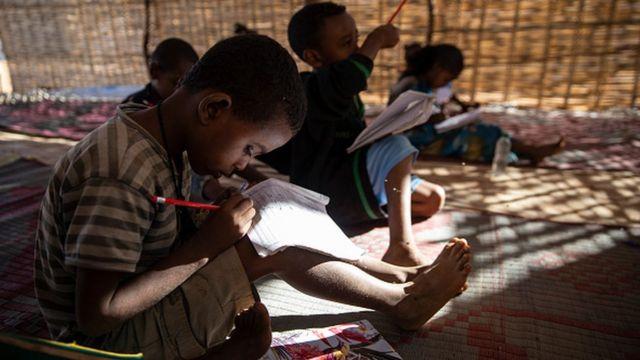 Лагерь беженцев в Судане
