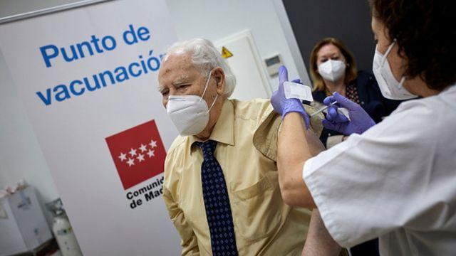 Пункт вакцинации в Мадриде