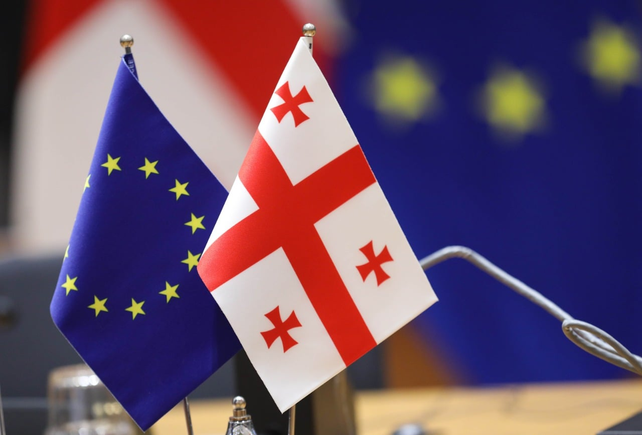 Georgia_EU_Flags