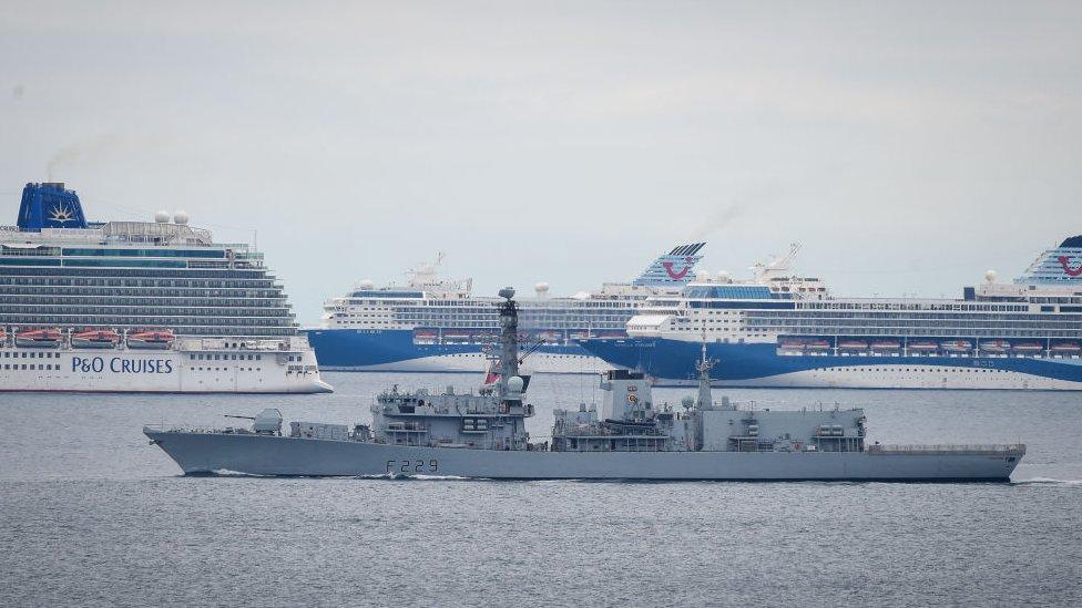 Корабль ВМС Британии