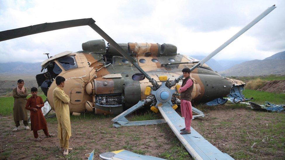 Упавший вертолет в Афганистане