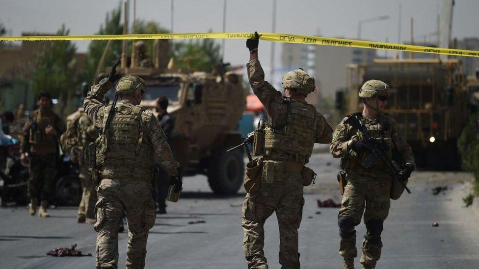 Место нападения талибов на силы НАТО, сентябрь 2017 года