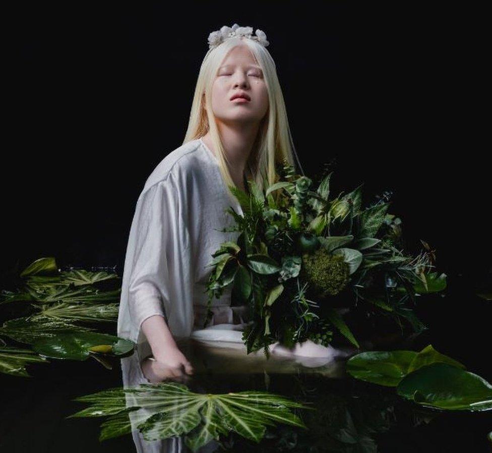 Новости BBC Vogue, альбинизм, китай, мода, модель