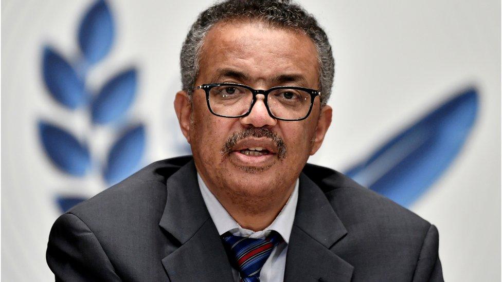 Глава Всемирной организации здравоохранения Тедрос Аданом Гебреисус