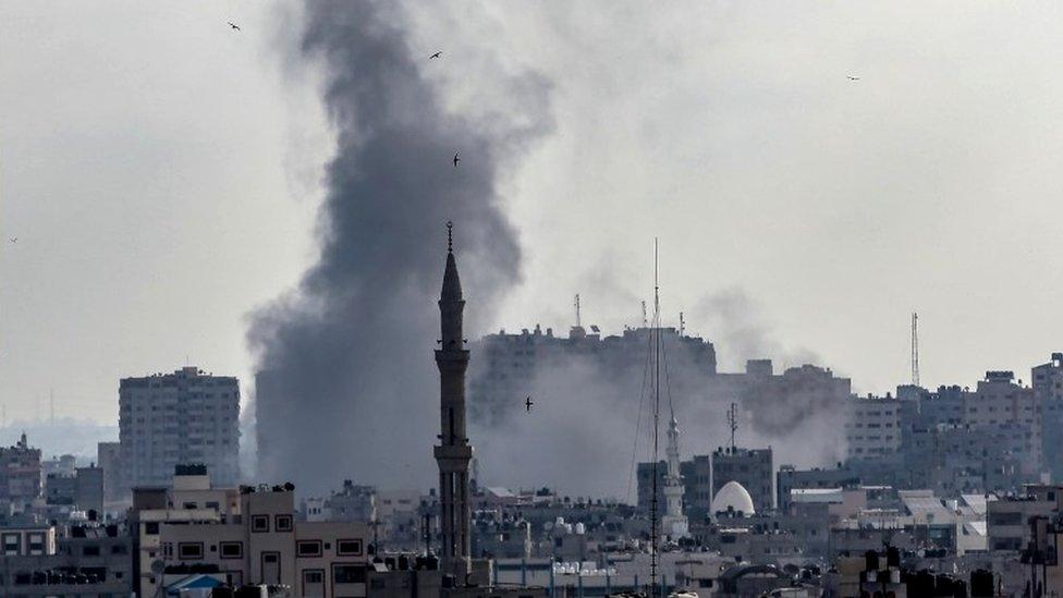 Газа под обстрелом