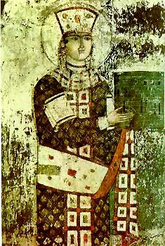 Queen Tamar Vardzia fresco Другая SOVA featured, Георгий Каландия, Дворец искусств, мода, национальный костюм, чоха