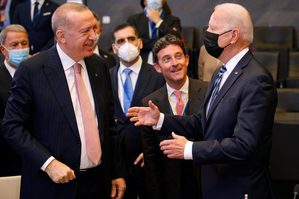 Джо Байден и Раджеп Тайип Эрдоган
