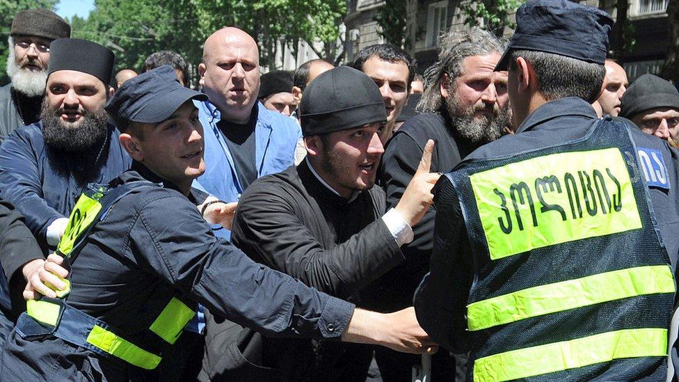 Контракция против ЛГБТ в Тбилиси 17 мая 2013 года
