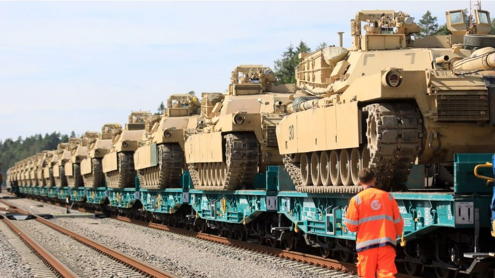 119384448 gettyimages 1228358257 Новости BBC Abrams, Армата, Польша