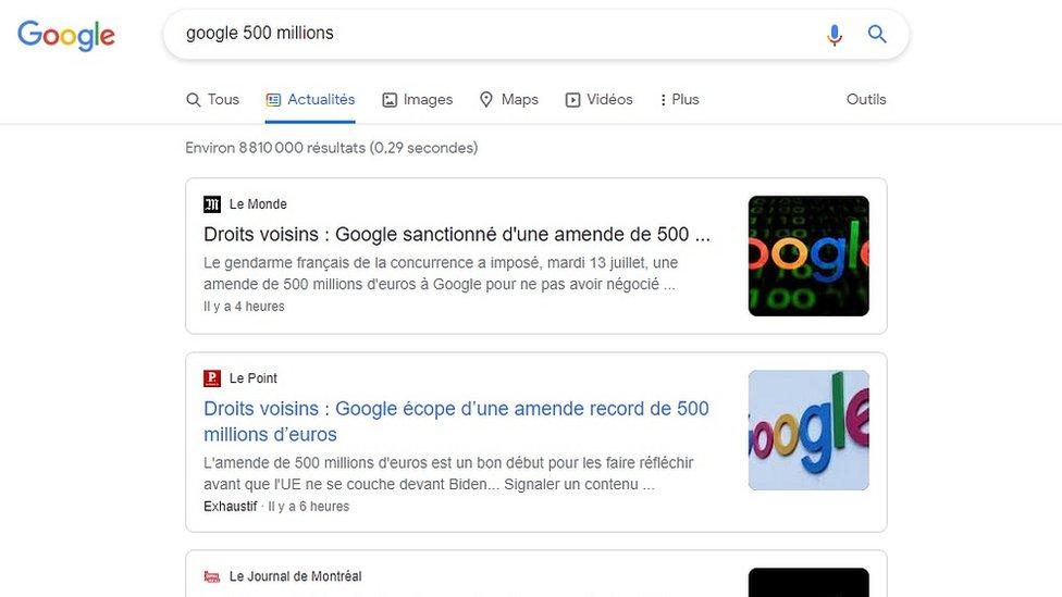 119387794 google fine screen Новости BBC Google