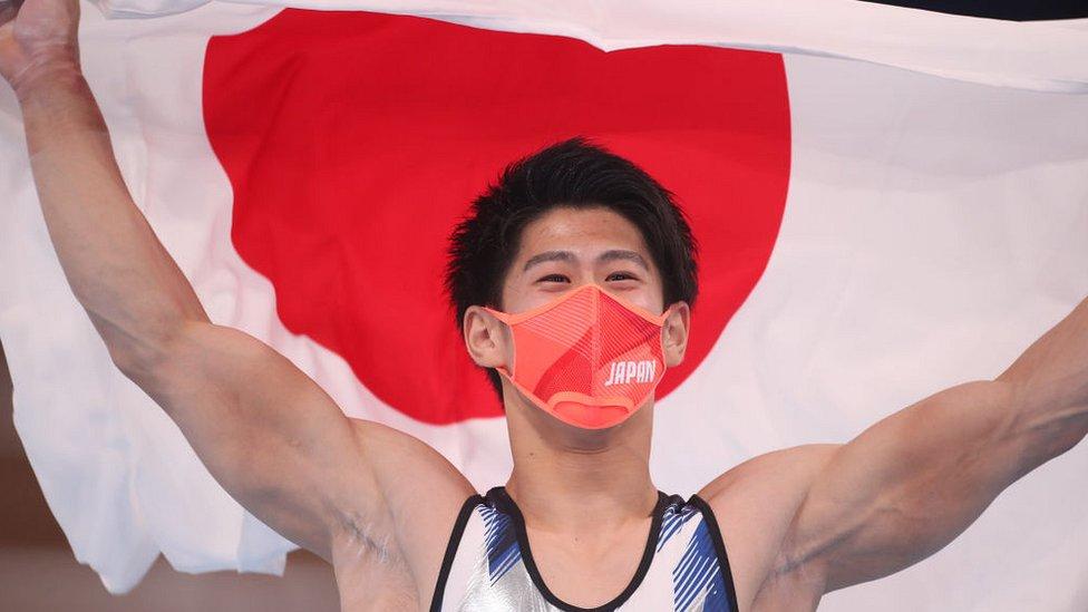 олимпийский чемпион, японский гимнаст Дайки Хасимото