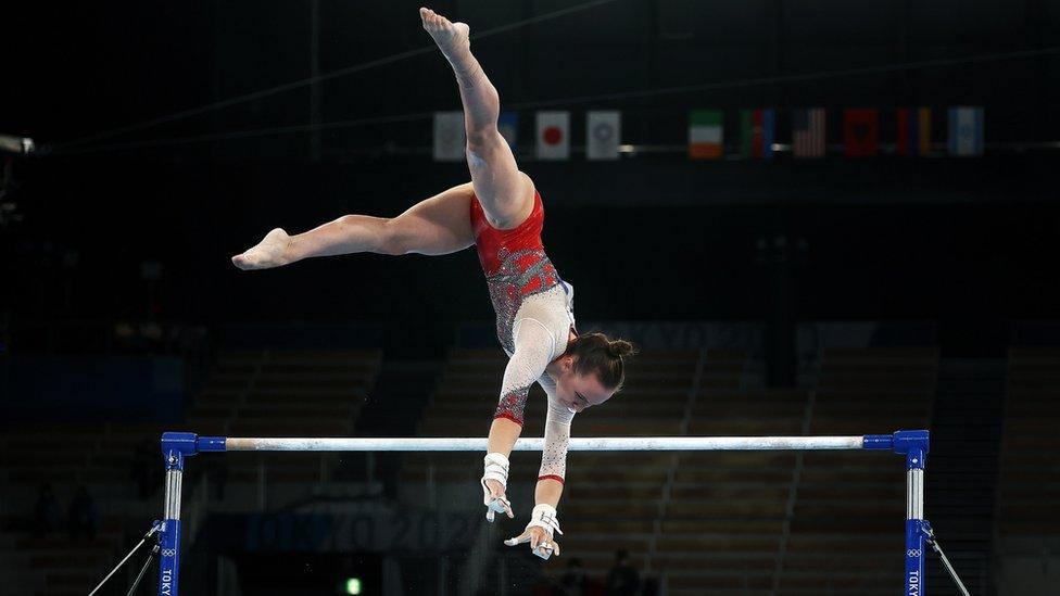 Анастасия Ильянкова во время соревнований