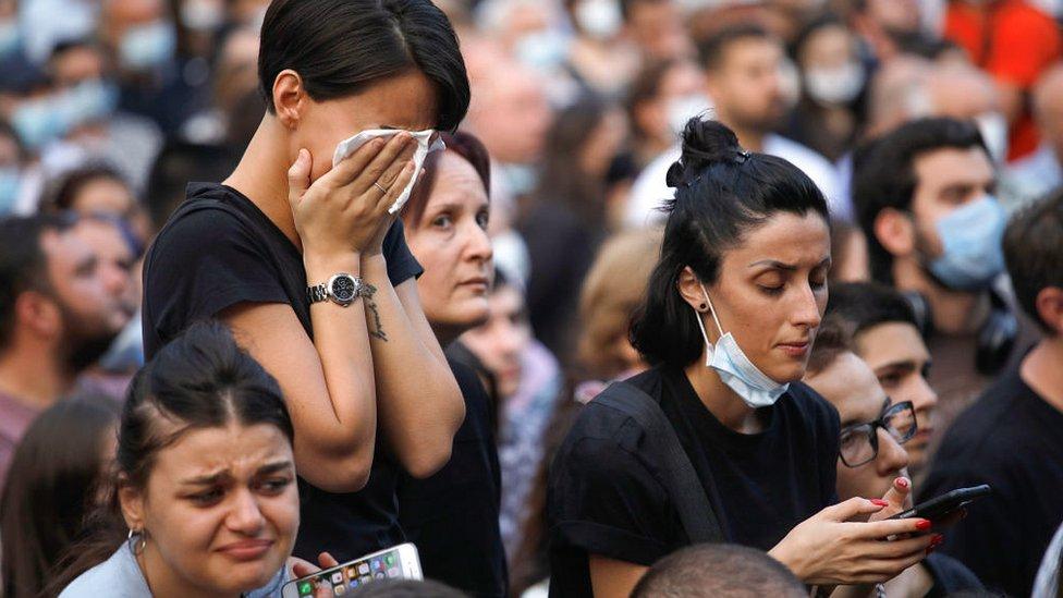 """После смерти оператора телеканала """"Пирвели"""" Лексо Лашкарава в Грузии вспыхнули протесты с требованиями отставки премьера и наказания всех виновных в насилии 5 июля"""