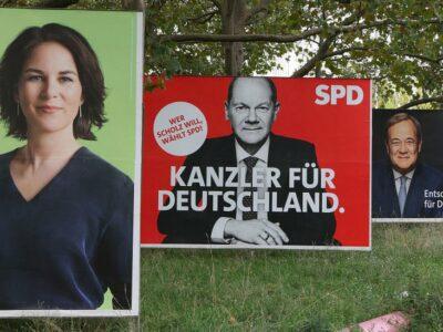 120689335 baerbock scholz laschet getty Новости BBC Ангела Меркель