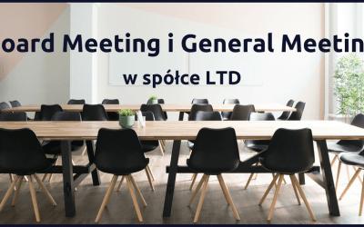 Board Meeting i General Meeting w spółce LTD