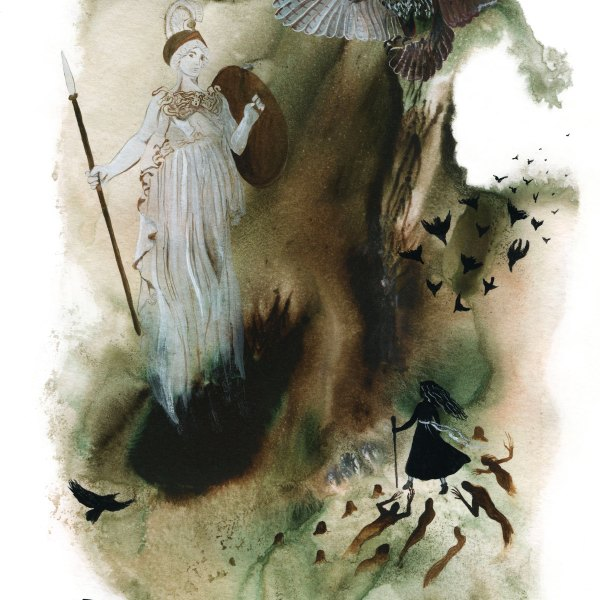 Athena Watercolor Art Print by Sova Huova