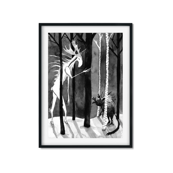 Forest Spirits art print by SOva Hůová