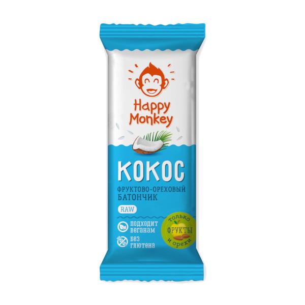 "Фруктово-ореховый батончик ""Кокос"" raw Happy Monkey"