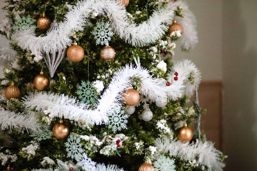 Tessuto felpato/simil tessuto, pannello esterno di lusso dell'albero di natale della pelliccia del faux. Come Realizzare Un Albero Di Natale In Perfetto Stile Shabby Chic Soveratiamo