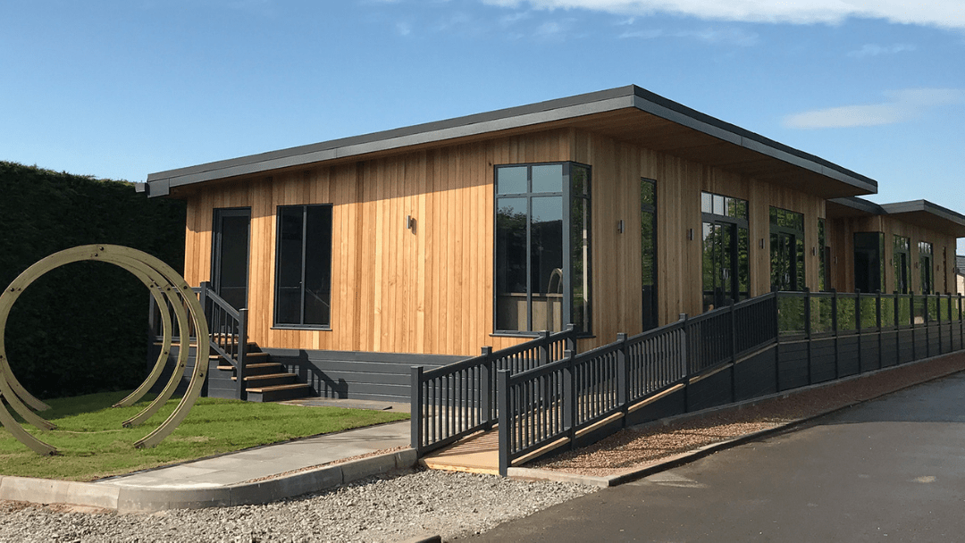 office buildings example from sovereign modular buildings - bespoke office and pavilion building design
