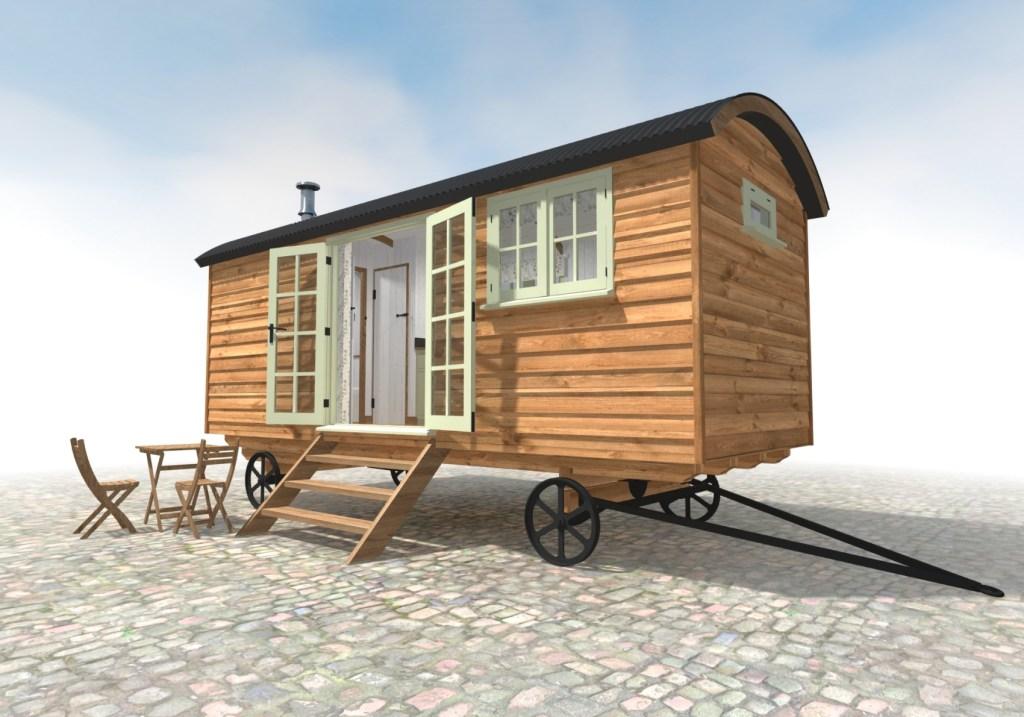 sovereign modular buildings - shepherds hut - glamping pods designs - exterior design