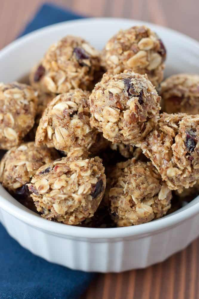 These quick and easy Cranberry Almond Energy Bites are the perfect sweet and satisfying healthy snack to grab on the go.
