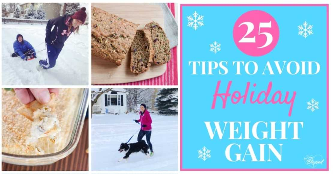 With all of the sweet, treats, and temptations of Thanksgiving and Christmas, here are 25 tips to avoid holiday weight gain.