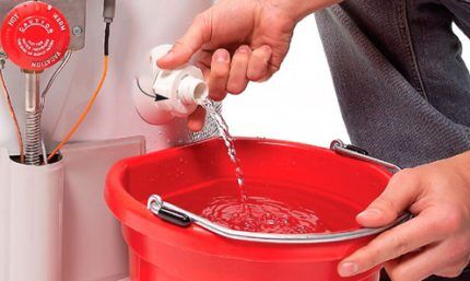 Como drenar a água do aquecedor de água