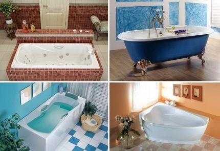 การเลือกอาบน้ำสำหรับการติดตั้งด้วยมือของคุณเอง