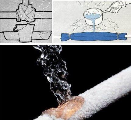 Optøningssystem under varmt vandstråler