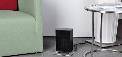 Aquecedor de ventilador de piso compacto