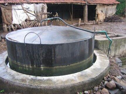Házi biogáz telepítés az oldalon