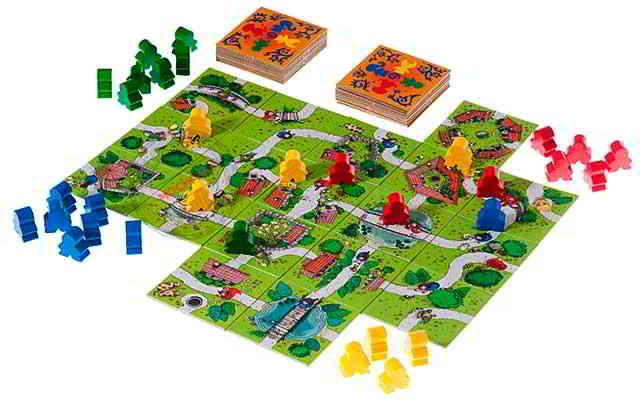 68ef94e7969 Carcassonne'i strateegiline - majanduslik mäng. Mängijad koguvad põllu  esmalt ja asetavad sellesse erinevaid kiipe. Kui ruudud lõpevad, lõpeb mäng.