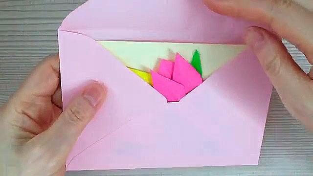 Открытка оригами с днем рождения бабушке